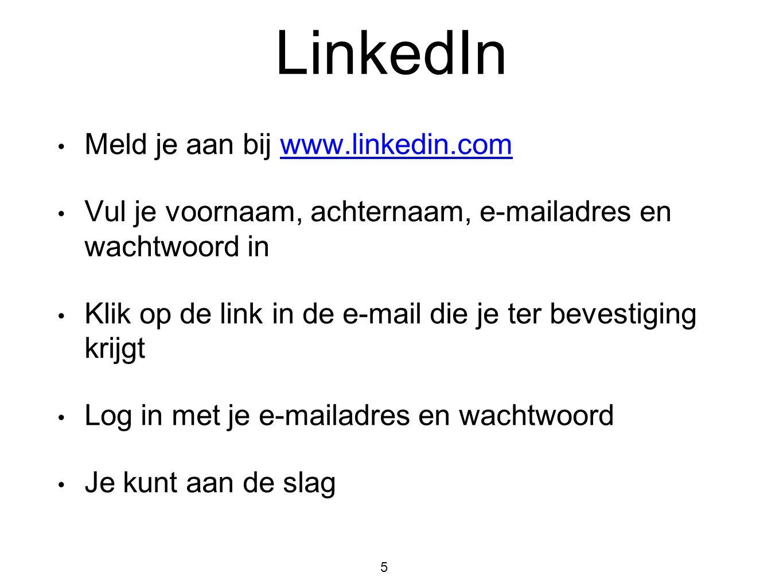 LinkedIn Meld je aan bij www.linkedin.com