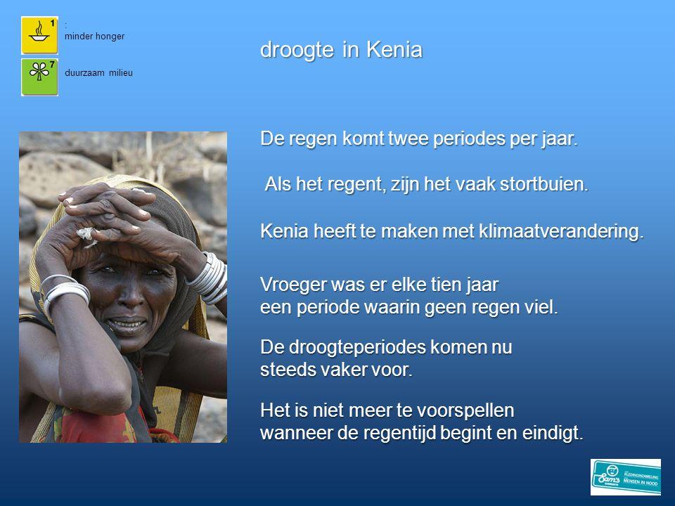 droogte in Kenia De regen komt twee periodes per jaar.