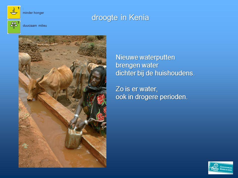 droogte in Kenia Nieuwe waterputten