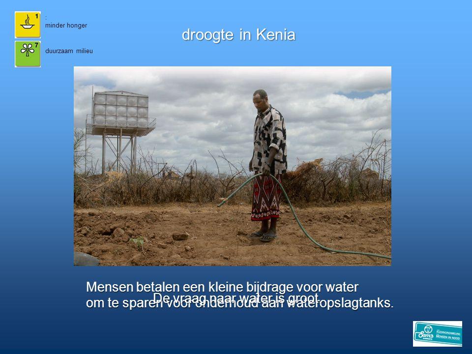 droogte in Kenia Mensen betalen een kleine bijdrage voor water