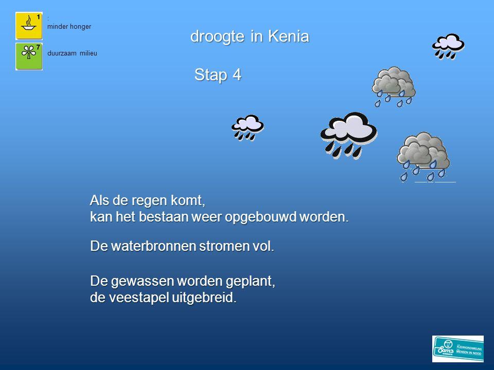 droogte in Kenia Stap 4 Als de regen komt,