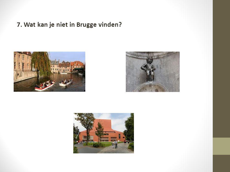 7. Wat kan je niet in Brugge vinden