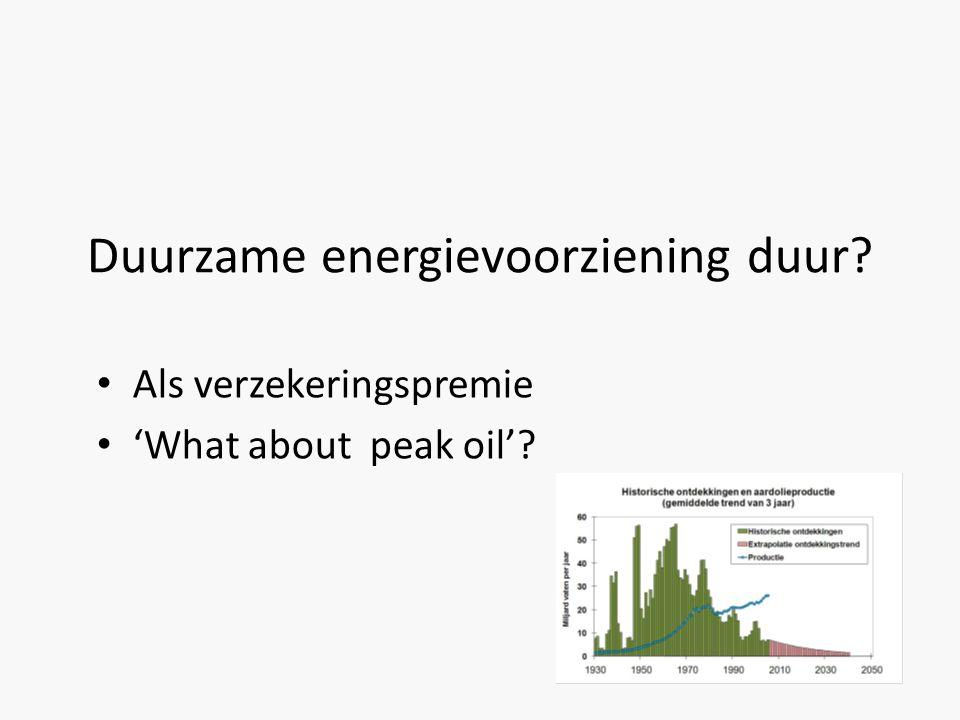 Duurzame energievoorziening duur