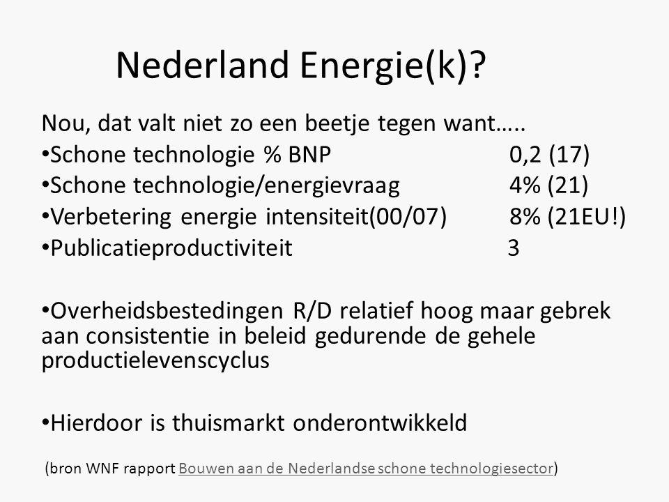 Nederland Energie(k) Nou, dat valt niet zo een beetje tegen want…..