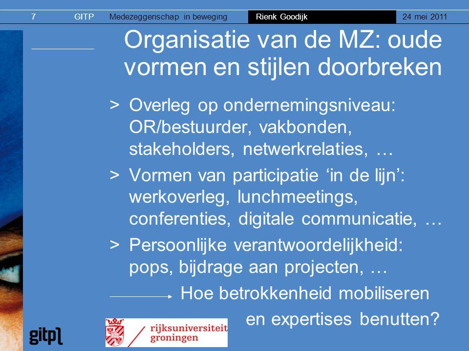Organisatie van de MZ: oude vormen en stijlen doorbreken