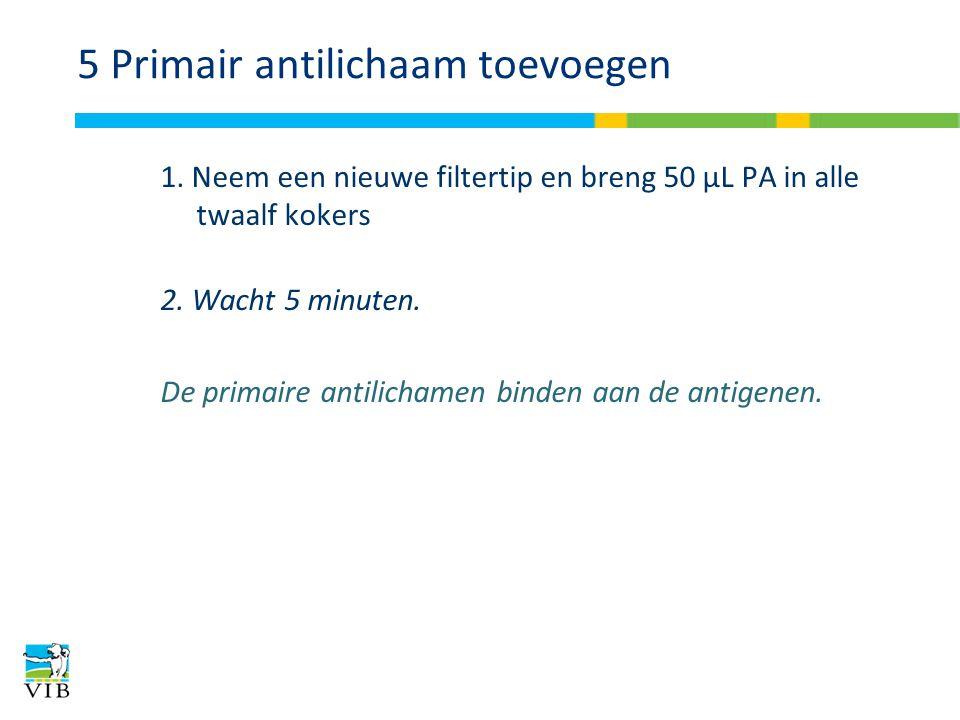 5 Primair antilichaam toevoegen