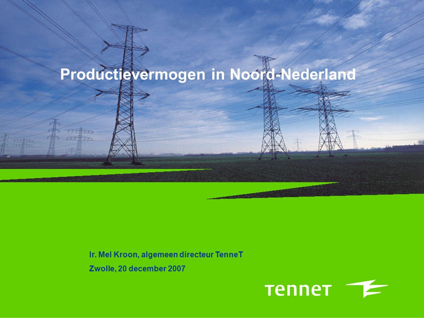 Productievermogen in Noord-Nederland