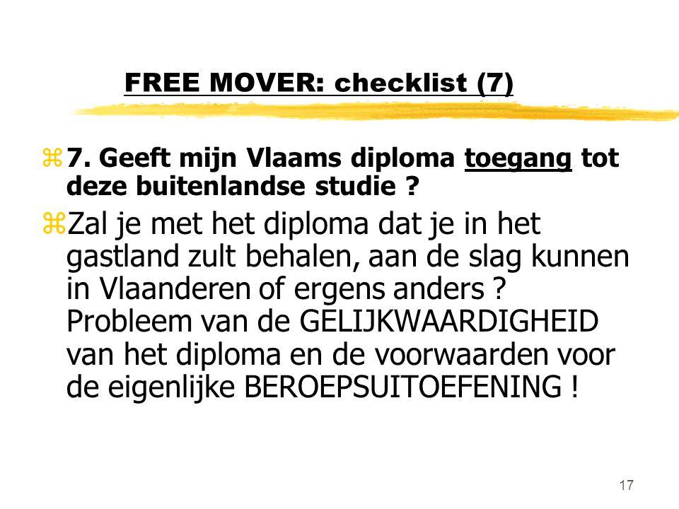 FREE MOVER: checklist (7)