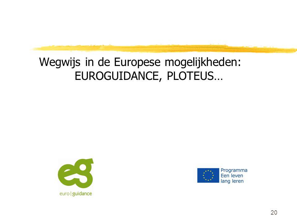 Wegwijs in de Europese mogelijkheden: EUROGUIDANCE, PLOTEUS…