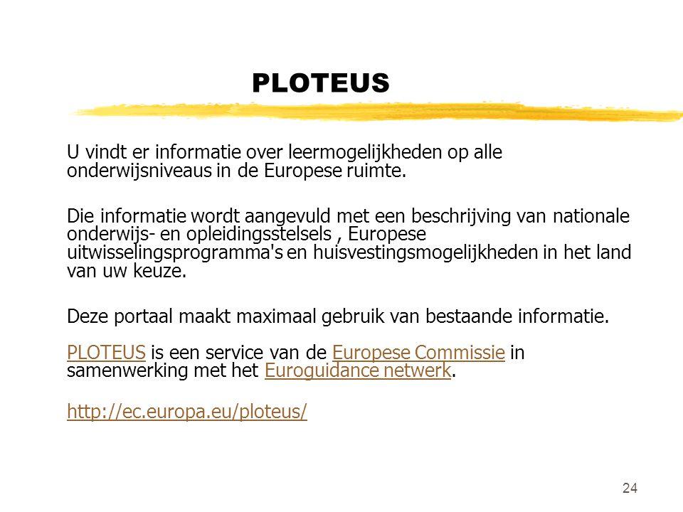 PLOTEUS U vindt er informatie over leermogelijkheden op alle onderwijsniveaus in de Europese ruimte.