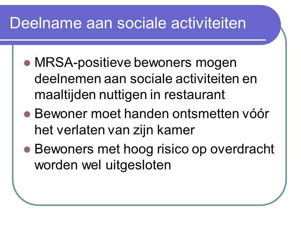 Deelname aan sociale activiteiten