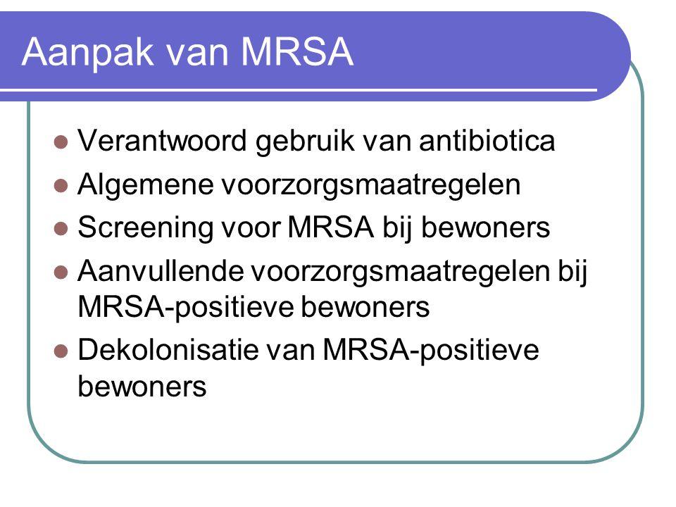Aanpak van MRSA Verantwoord gebruik van antibiotica