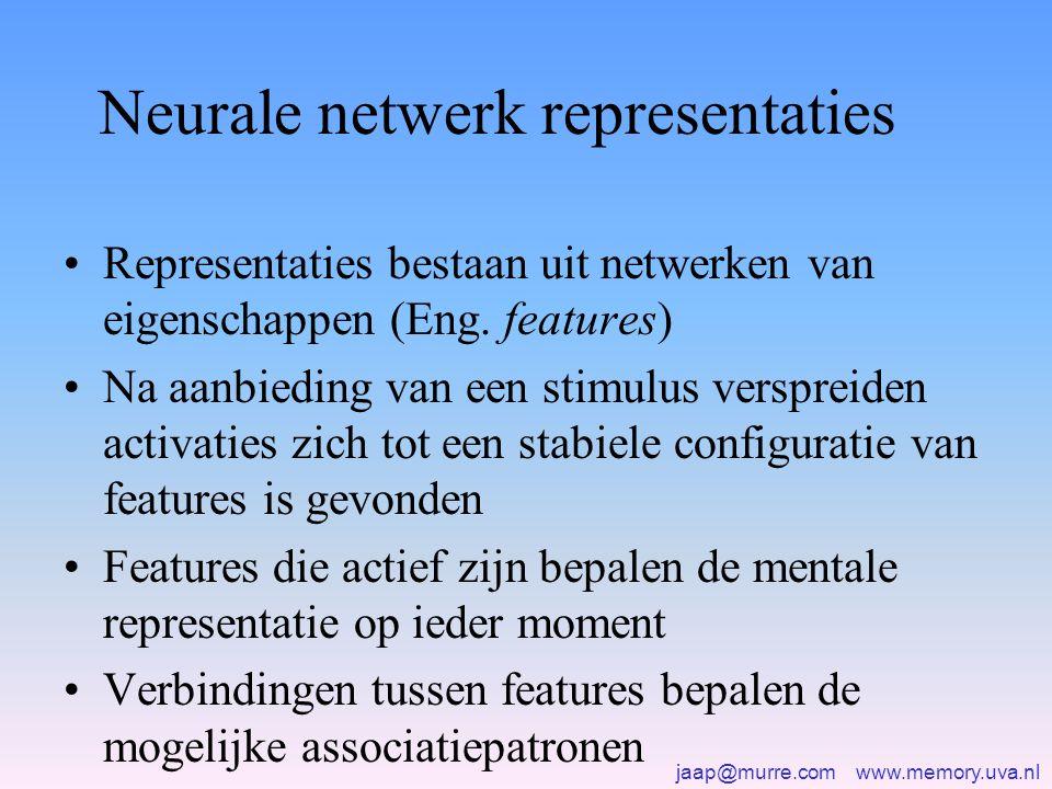 Neurale netwerk representaties