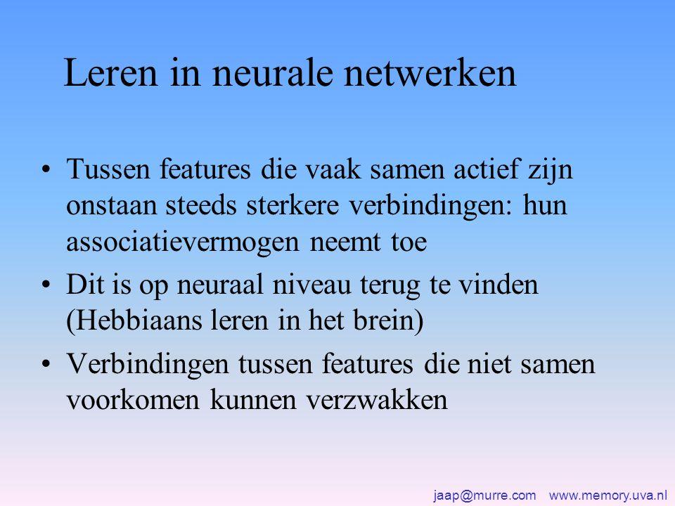 Leren in neurale netwerken
