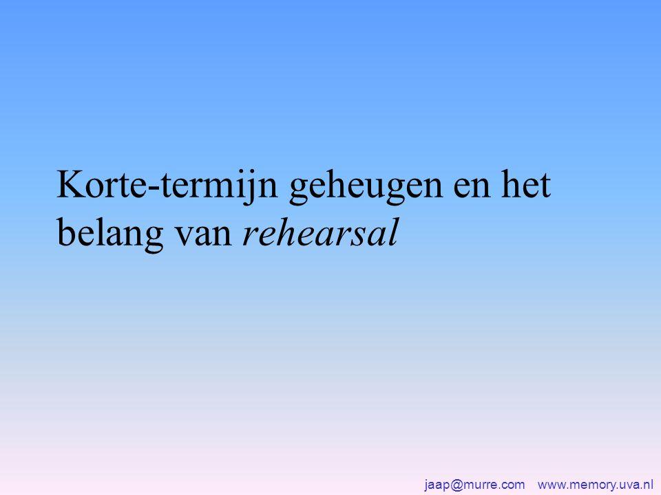 Korte-termijn geheugen en het belang van rehearsal