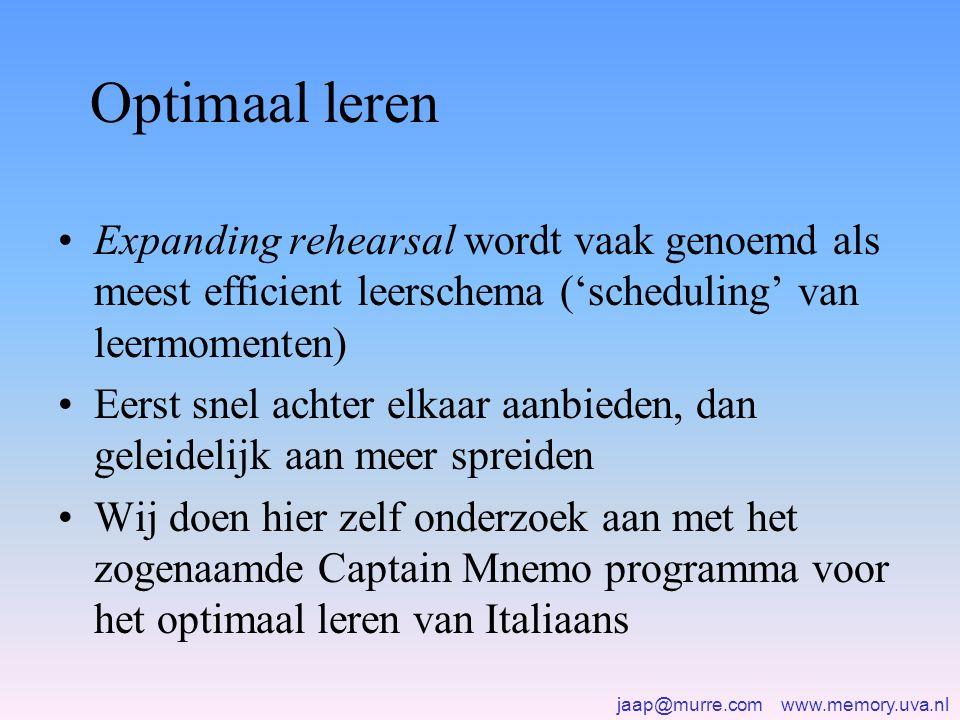jaap@murre.com www.memory.uva.nl