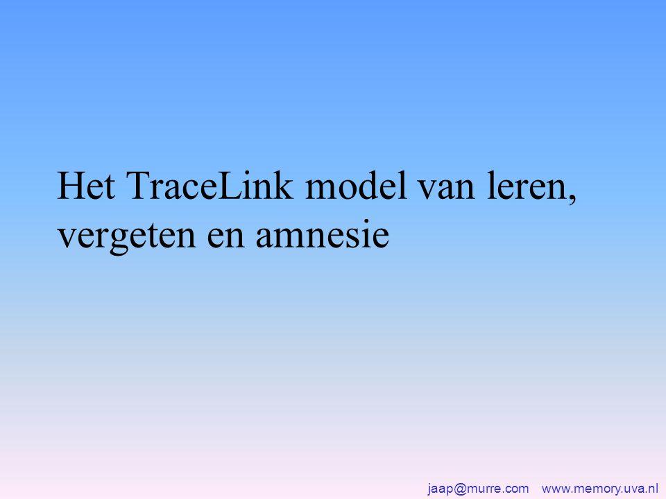 Het TraceLink model van leren, vergeten en amnesie