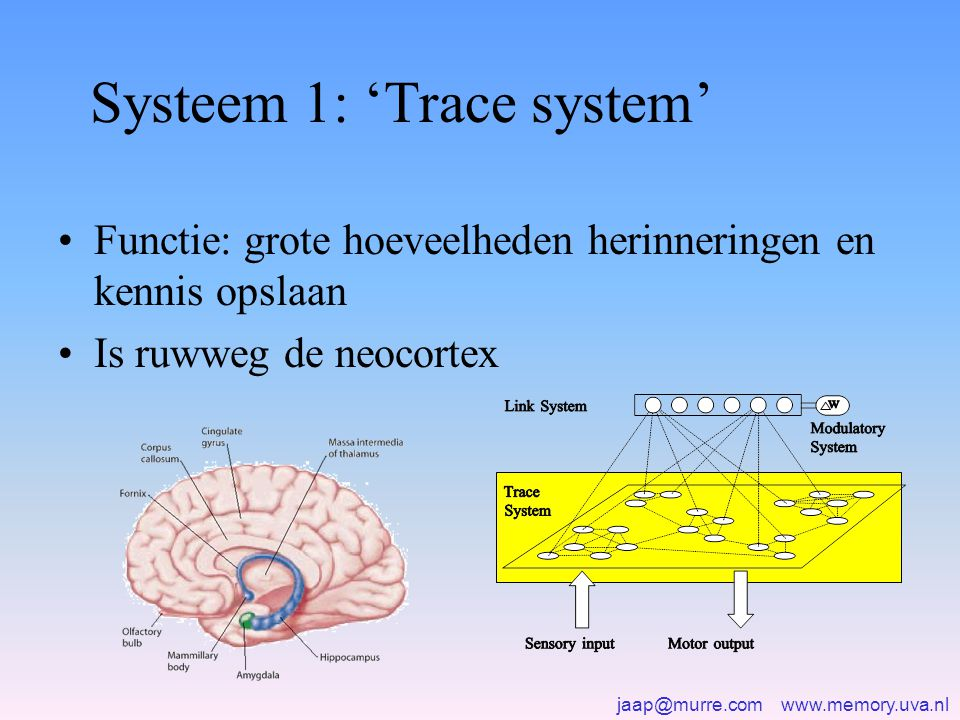 Systeem 1: 'Trace system'