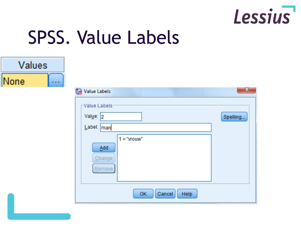 SPSS. Value Labels