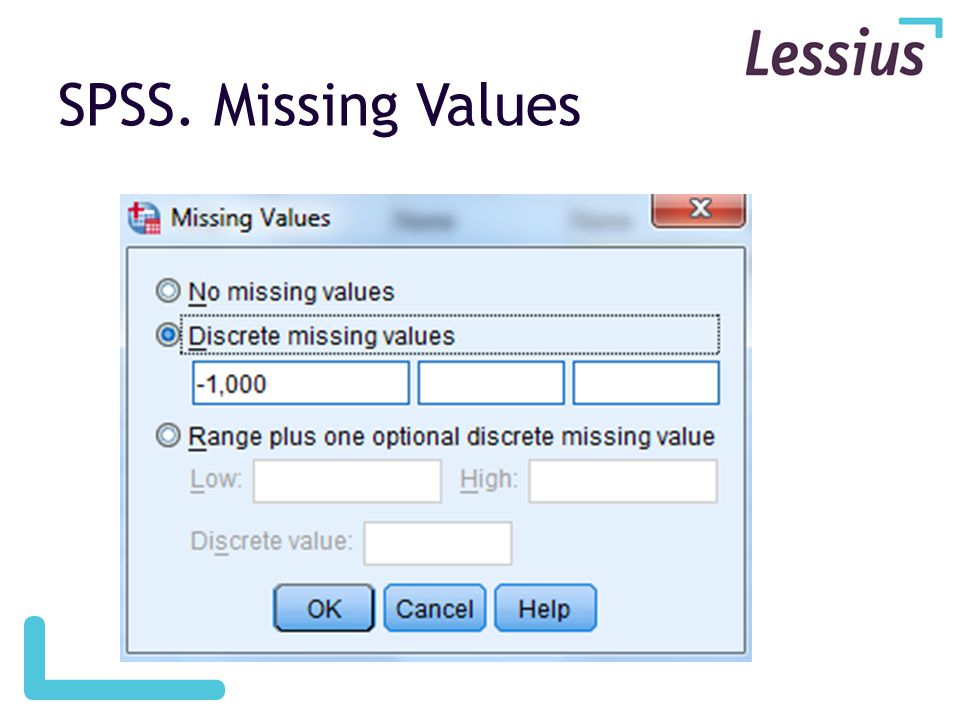 SPSS. Missing Values
