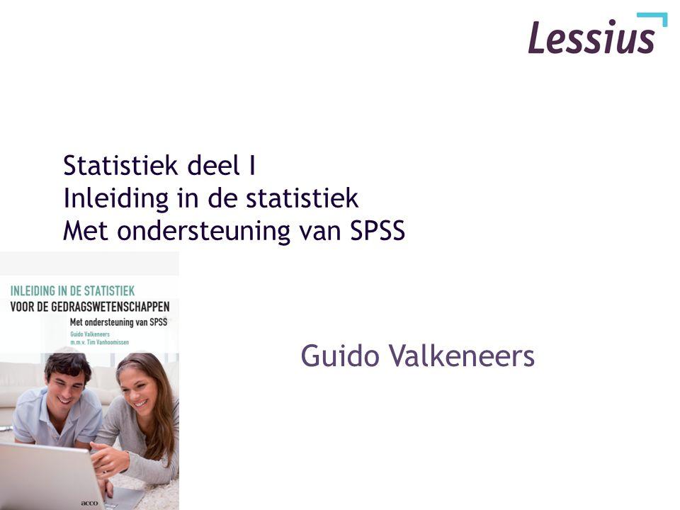 Statistiek deel I Inleiding in de statistiek Met ondersteuning van SPSS