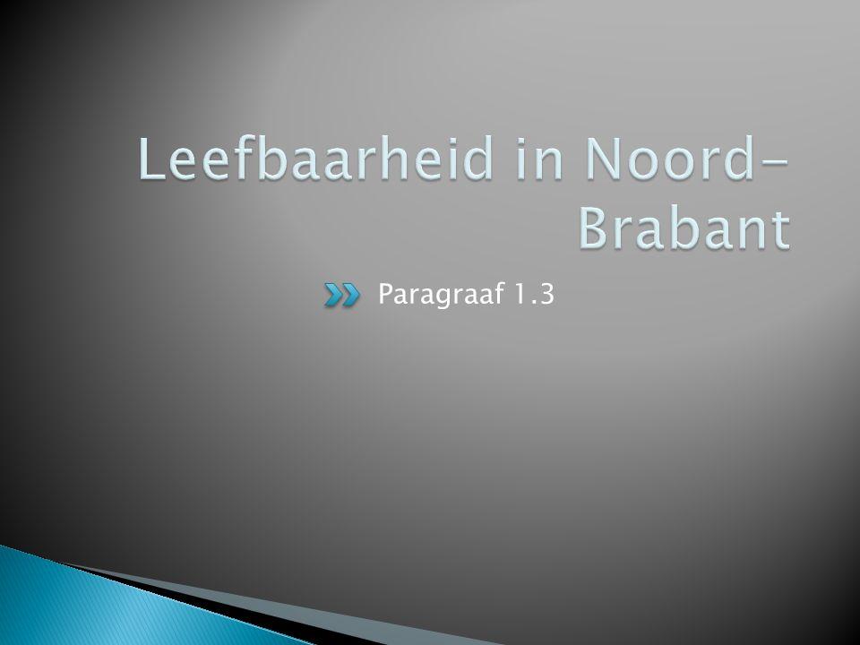 Leefbaarheid in Noord-Brabant