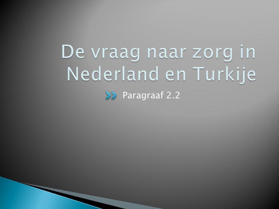 De vraag naar zorg in Nederland en Turkije