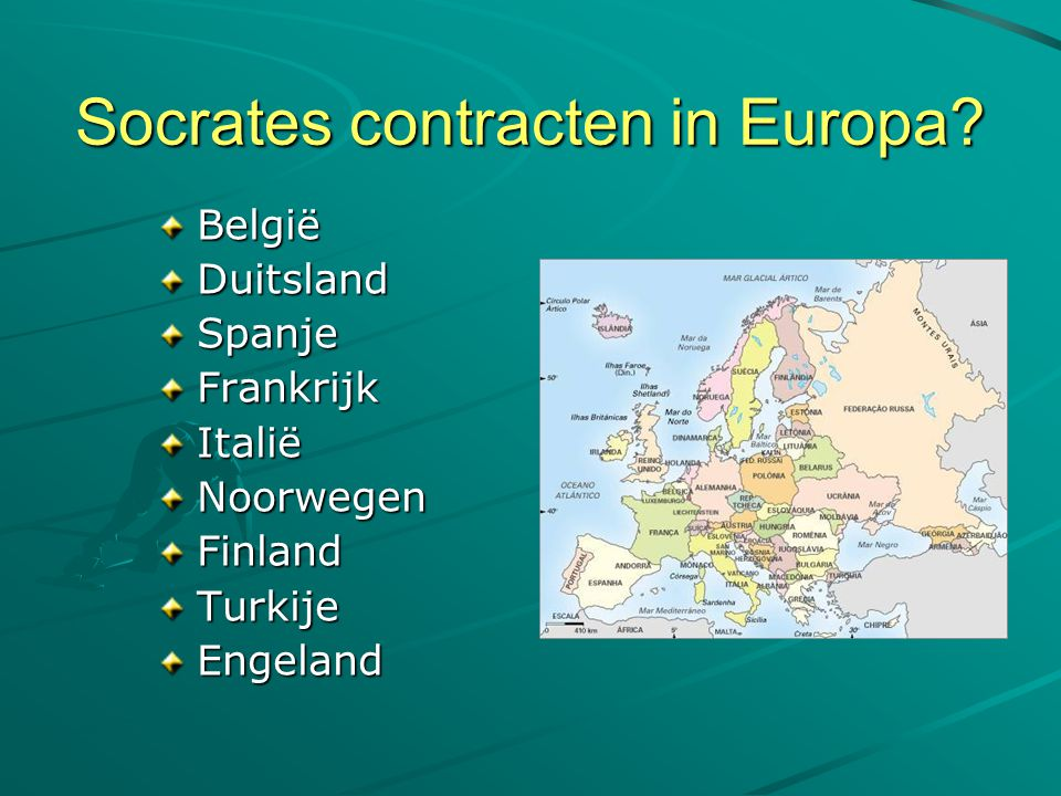 Socrates contracten in Europa