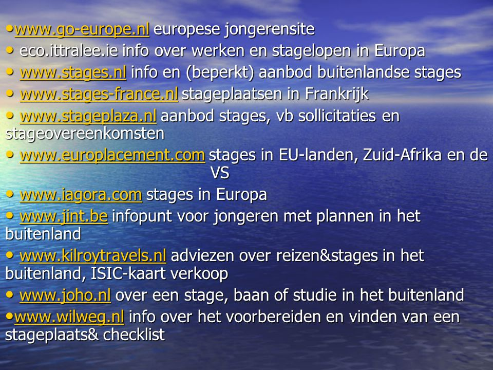 www.go-europe.nl europese jongerensite