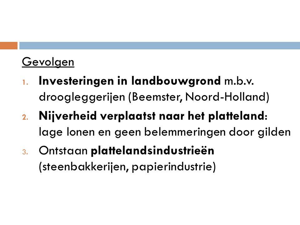 Gevolgen Investeringen in landbouwgrond m.b.v. droogleggerijen (Beemster, Noord-Holland)