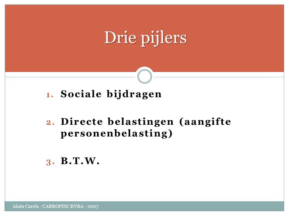 Drie pijlers Sociale bijdragen