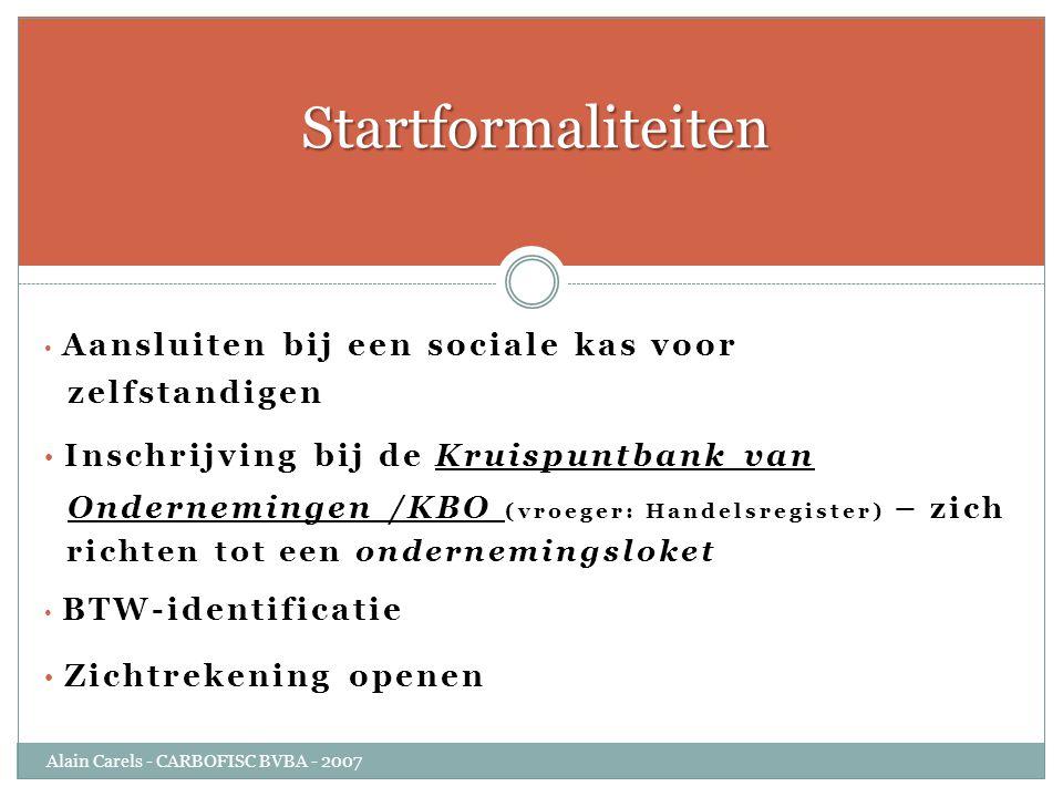 Startformaliteiten zelfstandigen
