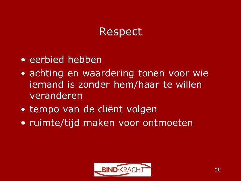 Respect eerbied hebben