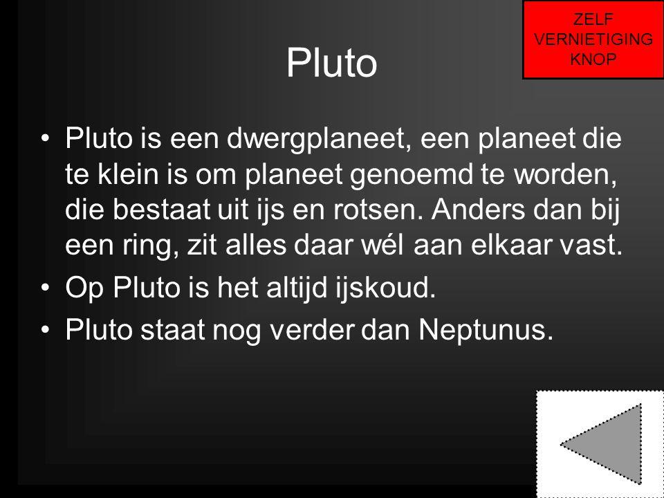 ZELF VERNIETIGING. KNOP. Pluto.