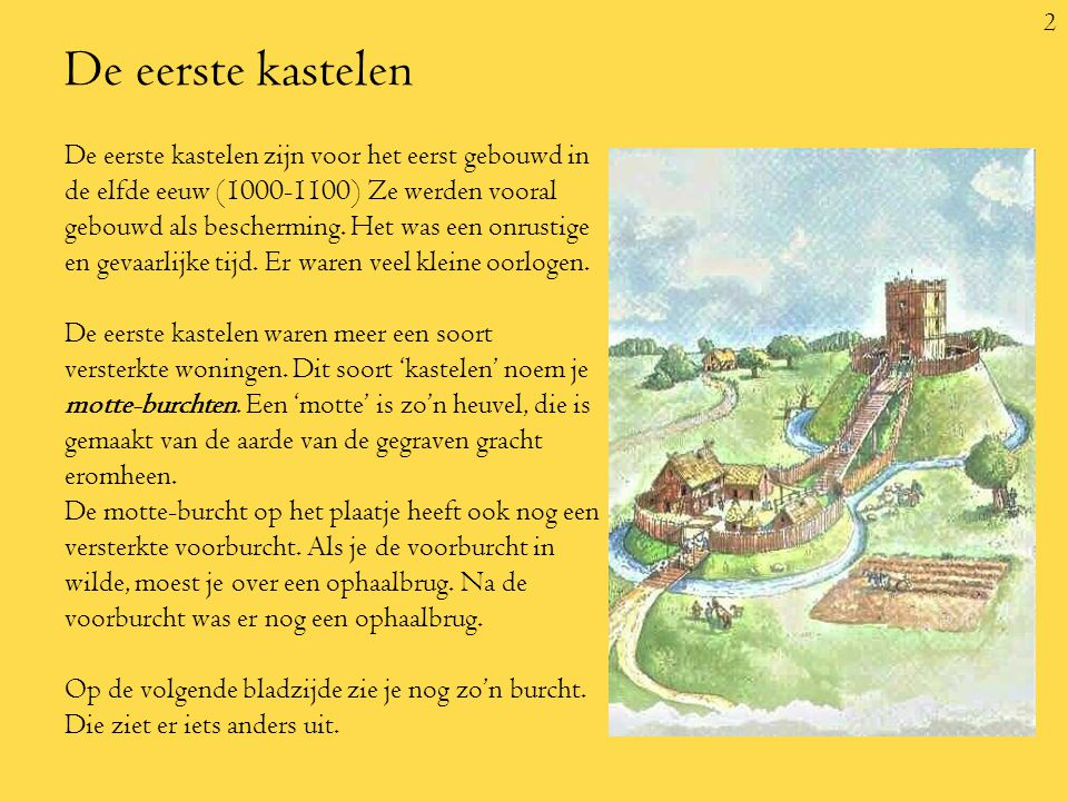 De eerste kastelen