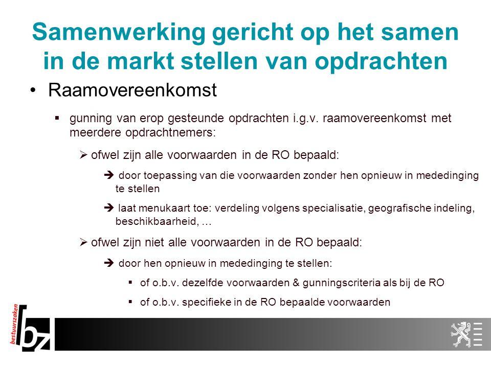 Samenwerking gericht op het samen in de markt stellen van opdrachten