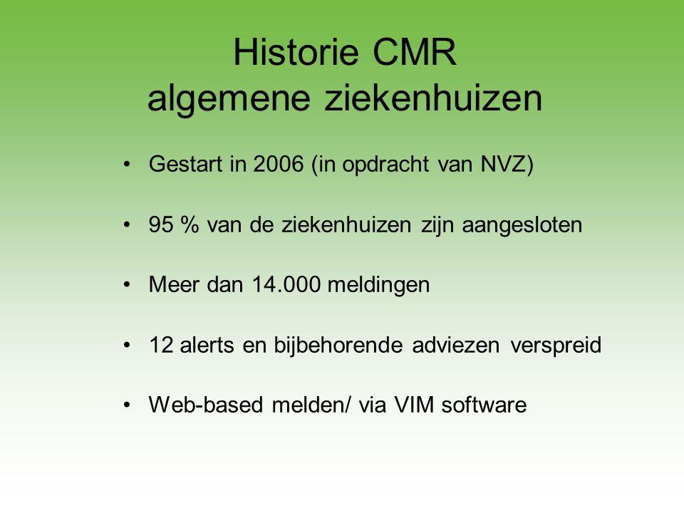 Historie CMR algemene ziekenhuizen