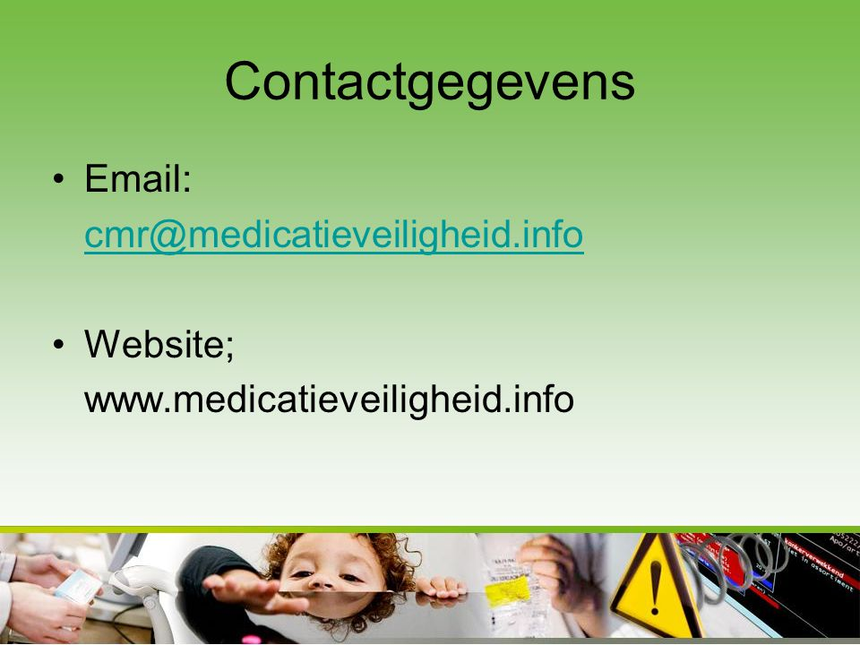 Contactgegevens Email: