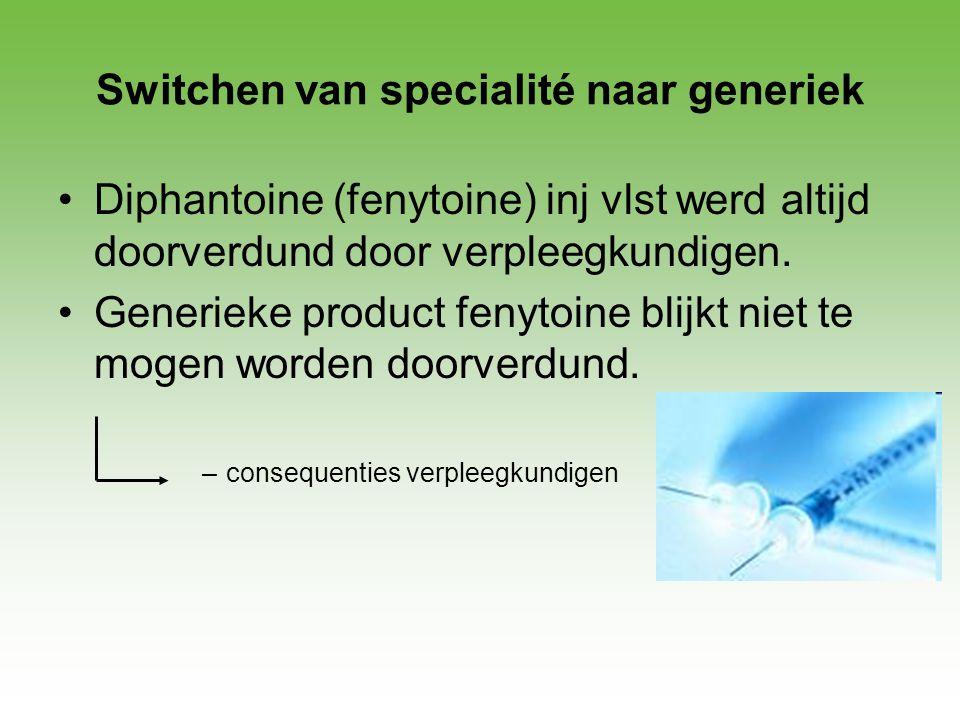 Switchen van specialité naar generiek