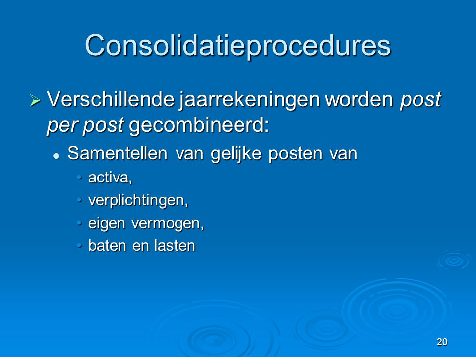 Consolidatieprocedures
