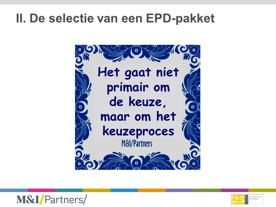 II. De selectie van een EPD-pakket