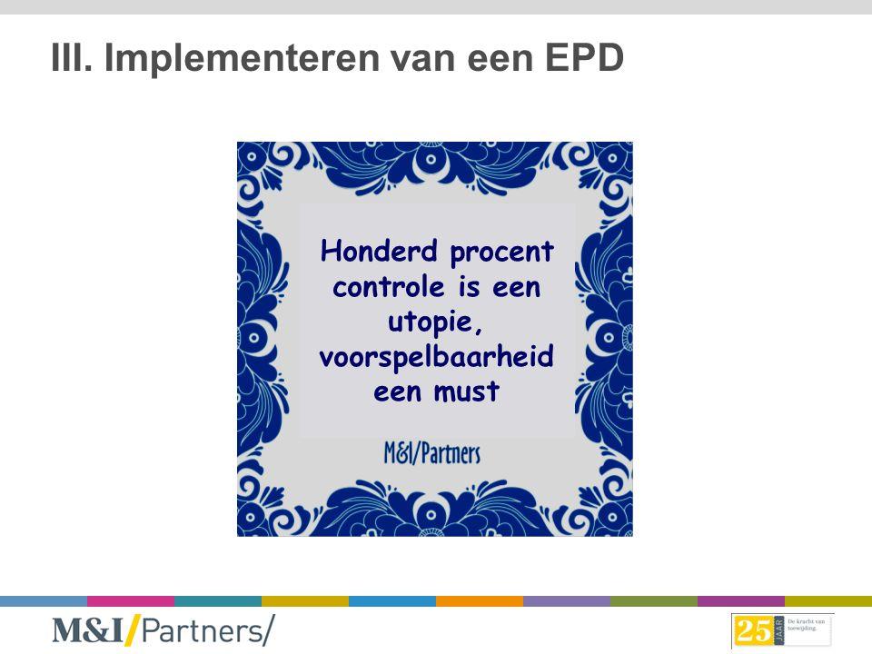 III. Implementeren van een EPD
