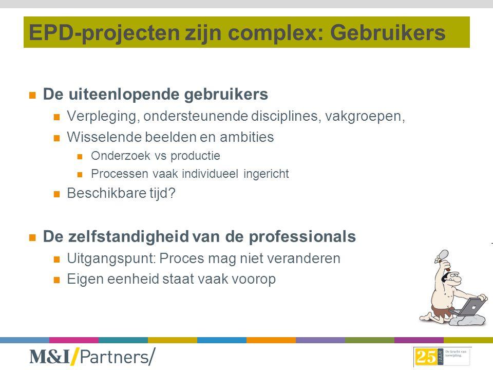EPD-projecten zijn complex: Gebruikers