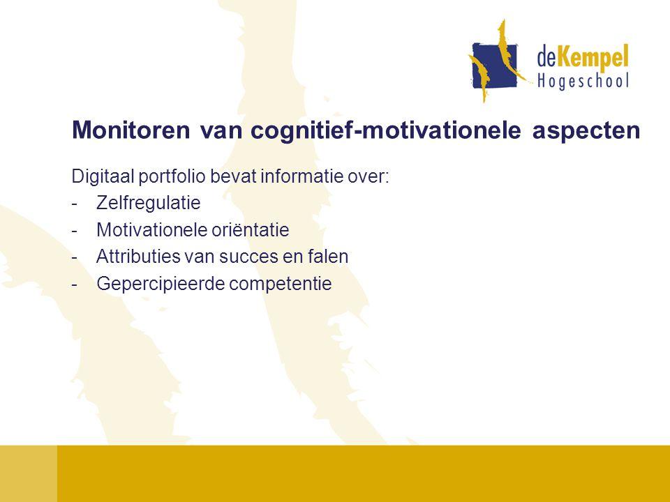 Monitoren van cognitief-motivationele aspecten