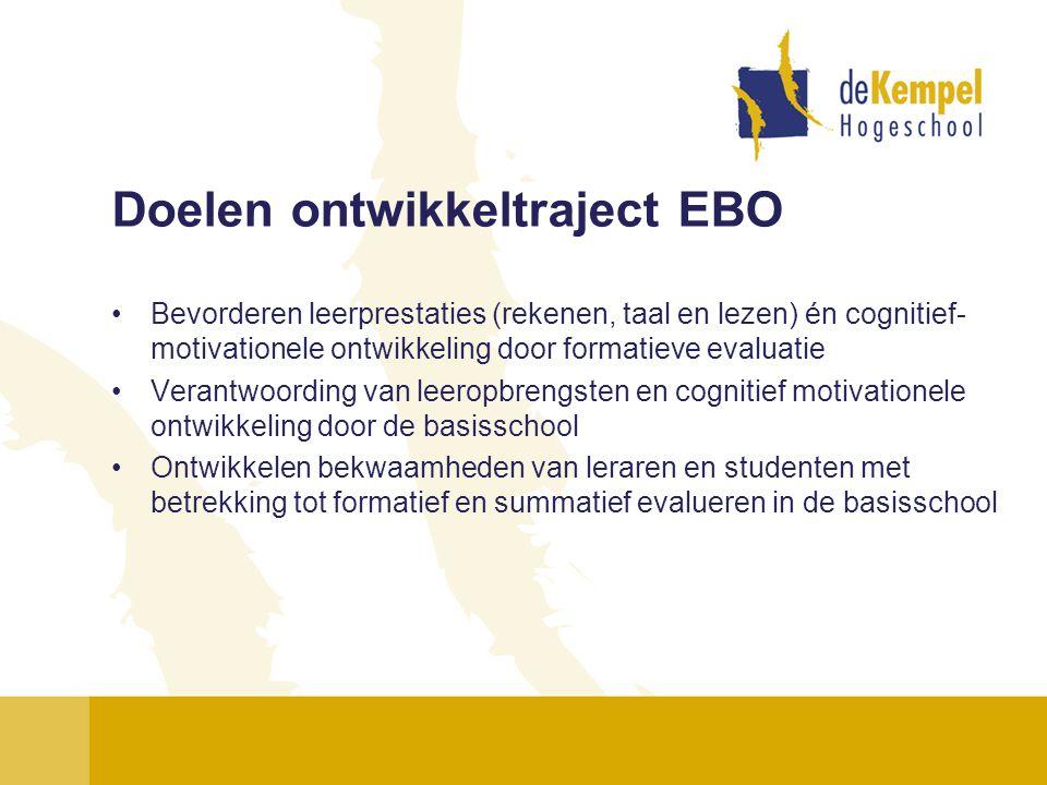 Doelen ontwikkeltraject EBO