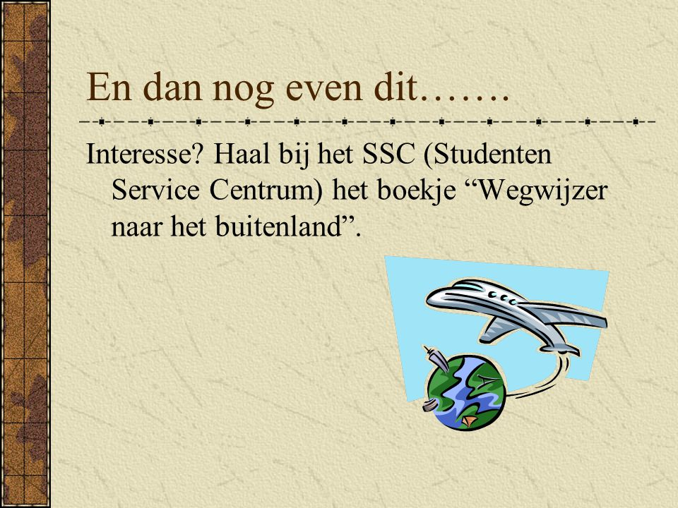 En dan nog even dit……. Interesse.
