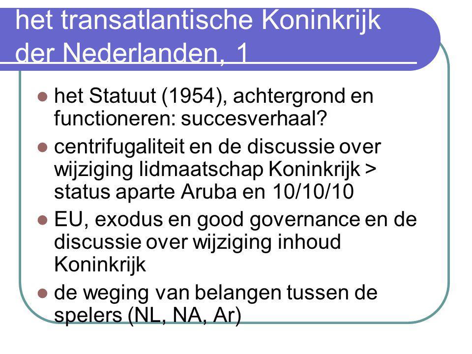 het transatlantische Koninkrijk der Nederlanden, 1