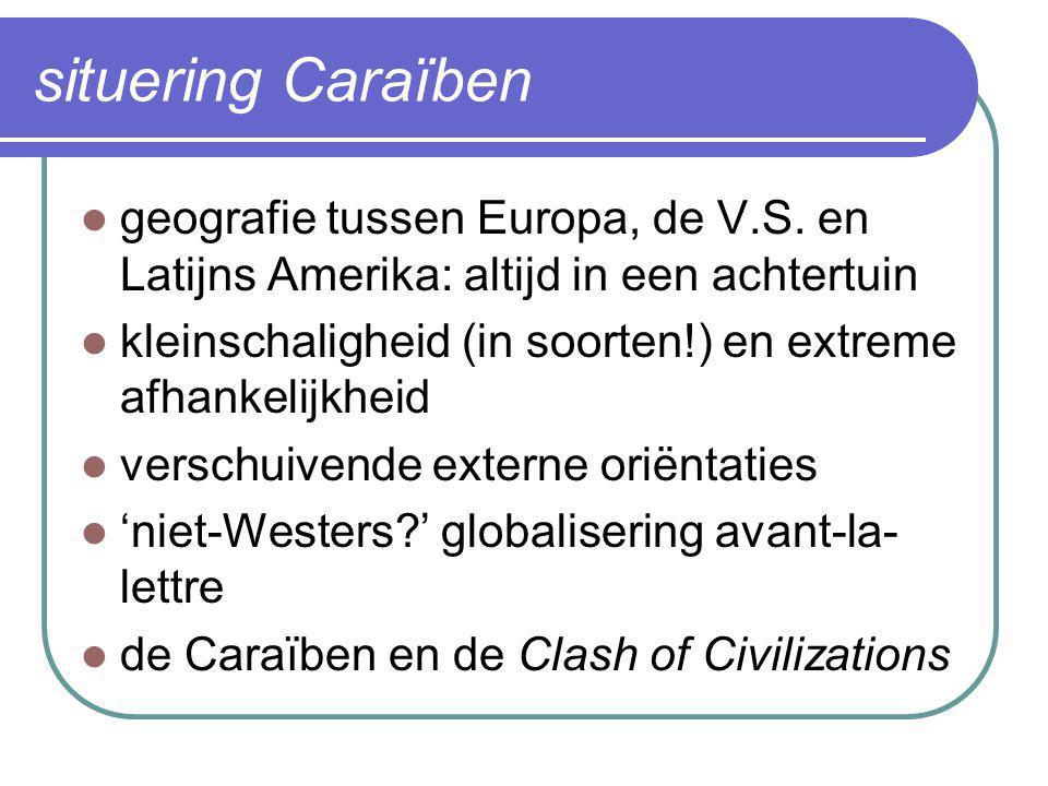 situering Caraïben geografie tussen Europa, de V.S. en Latijns Amerika: altijd in een achtertuin.