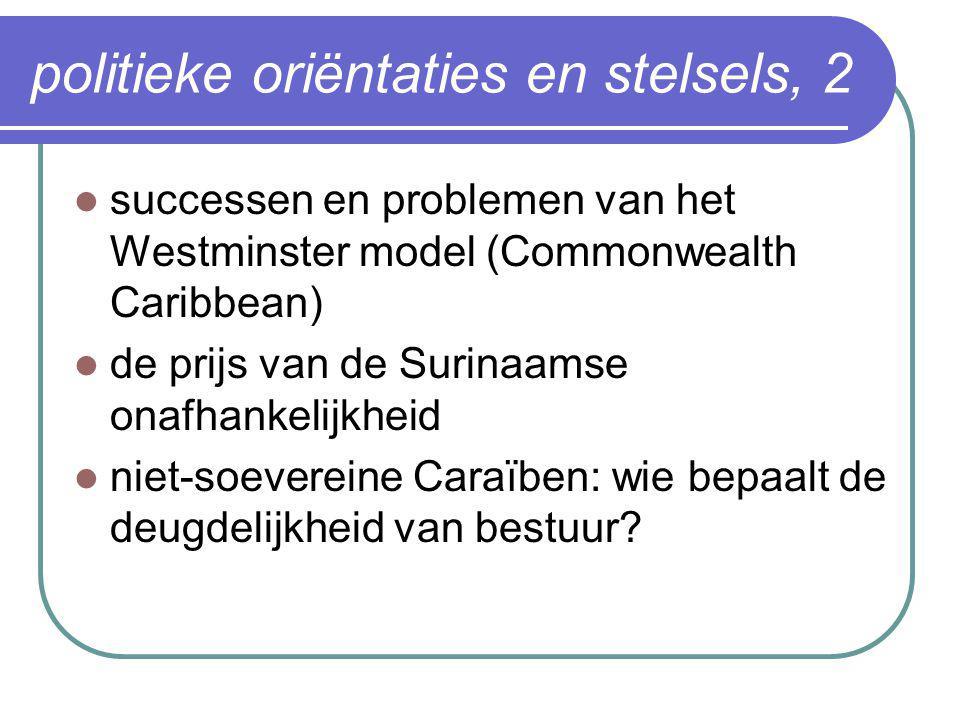 politieke oriëntaties en stelsels, 2