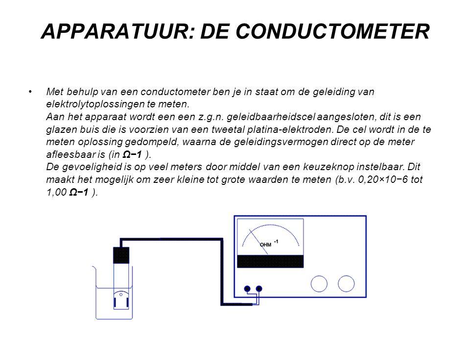 APPARATUUR: DE CONDUCTOMETER